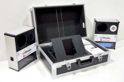 Custom foam to protect and present equipment inside a briefcase style flight case