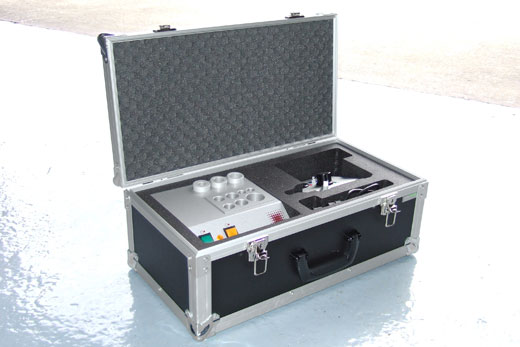 Flight case with custom foam interior protecting apparatus