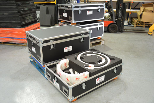 Road trunk flight cases with large custom foam inserts