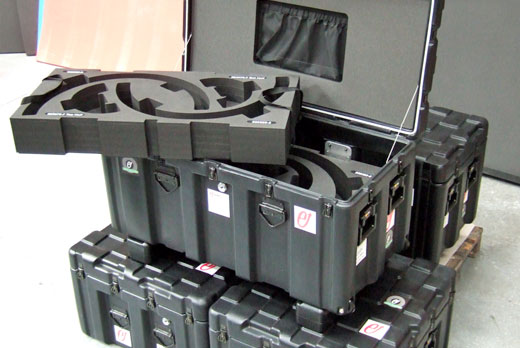 Peli ISP2 cases with large custom foam inserts