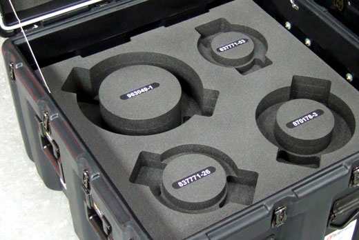 Peli-Hardigg cases with custom foam inserts