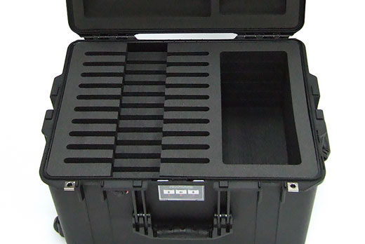 Peli Air with custom foam for multiple tablets