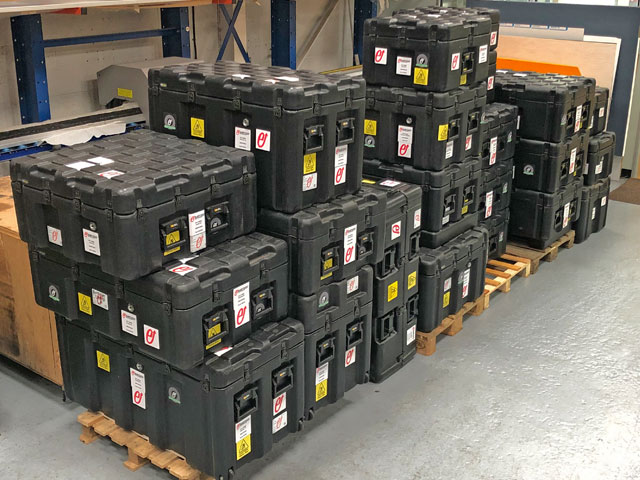 Large stackable Peli ISP2 cases