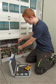 WAG TWIST case being used by an electrician